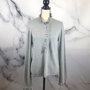 Tory Burch cashmere & cotton sweater